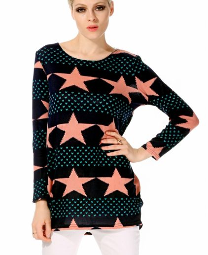 Star Printed Long Tshirt